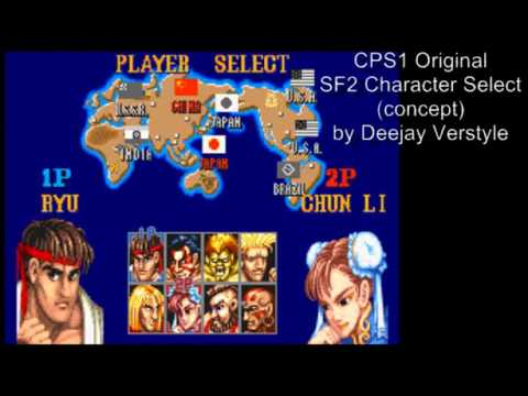 Cps1 Original Street Fighter 2 Character Select Original Concept