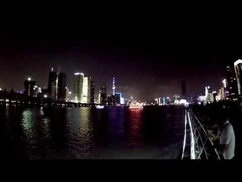 The awesome Huangpu River tour in Shanghai, China, 09.19.2015!