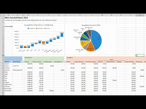 Create Excel Haushaltsbuch - keep an eye on Finance[ Tutorial , German , German ]