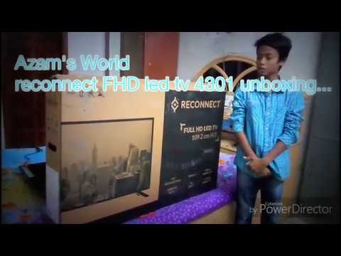 Reconnect RELEG4301 Full HD LED TV, 43 inch unboxing.