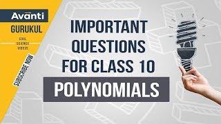 Polynomials | CBSE Class 10 Revision | Important questions polynomials |