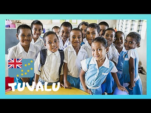 TUVALU, inside the classrooms of Nauti Primary School, rare views and tour (Pacific Ocean)