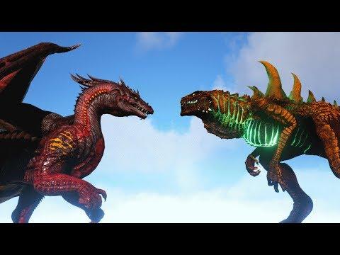 ALPHA DRAGON Vs GODZILLARK | ARK: Survival Evolved | Cantex