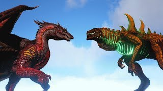 ALPHA DRAGON vs GODZILLARK | ARK: Survival Evolved | Cantex