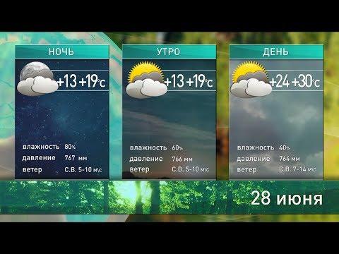 Прогноз погоды на 28 июня