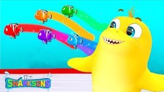 Row Row Row Your Boat SHARKSONS | Nursery Rhymes & Kids Songs! | Cartoons For Kids | Shark Songs