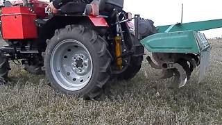 Мини-трактор из мотоблока Кентавр.