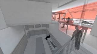 New York Apartment Common Space Thermal + Daylight Render