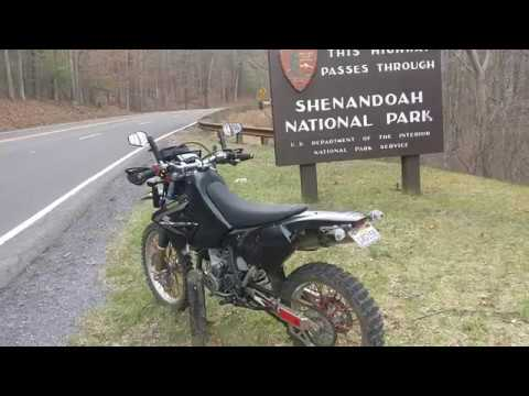 Skyline drive DRZ400 motorcycle ride