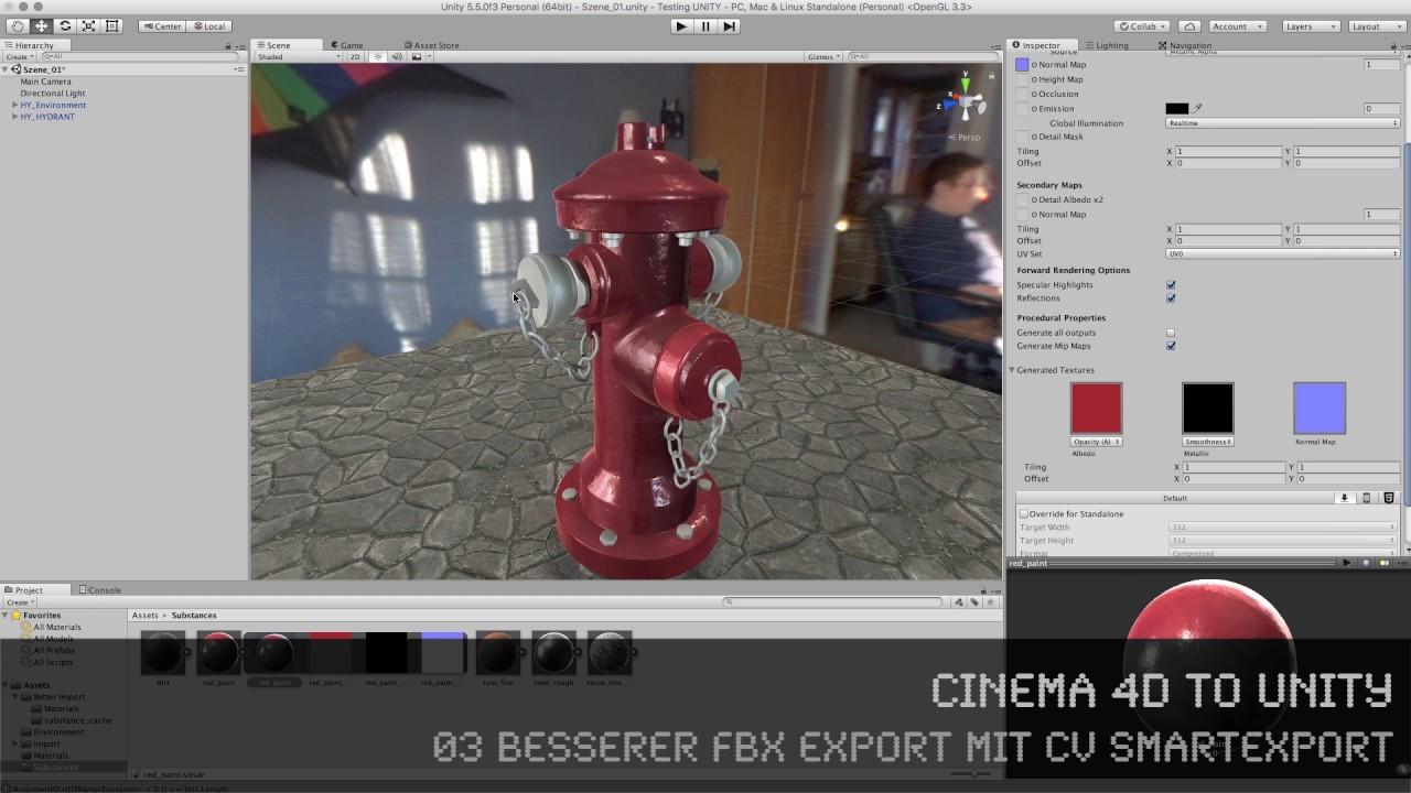 c4d2u - 03 besserer fbx export mit cv smartexport