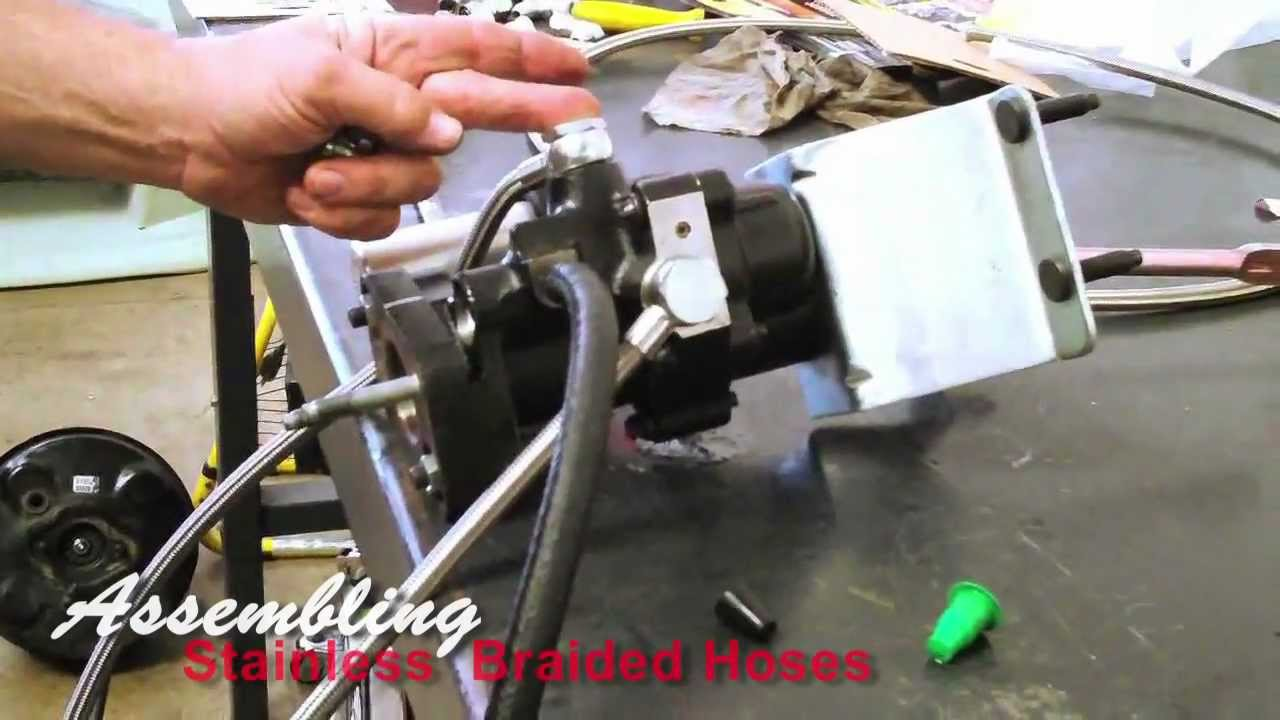 Stainless Braided High Pressure Hoses for Hydro-Boost on Power Brake TV