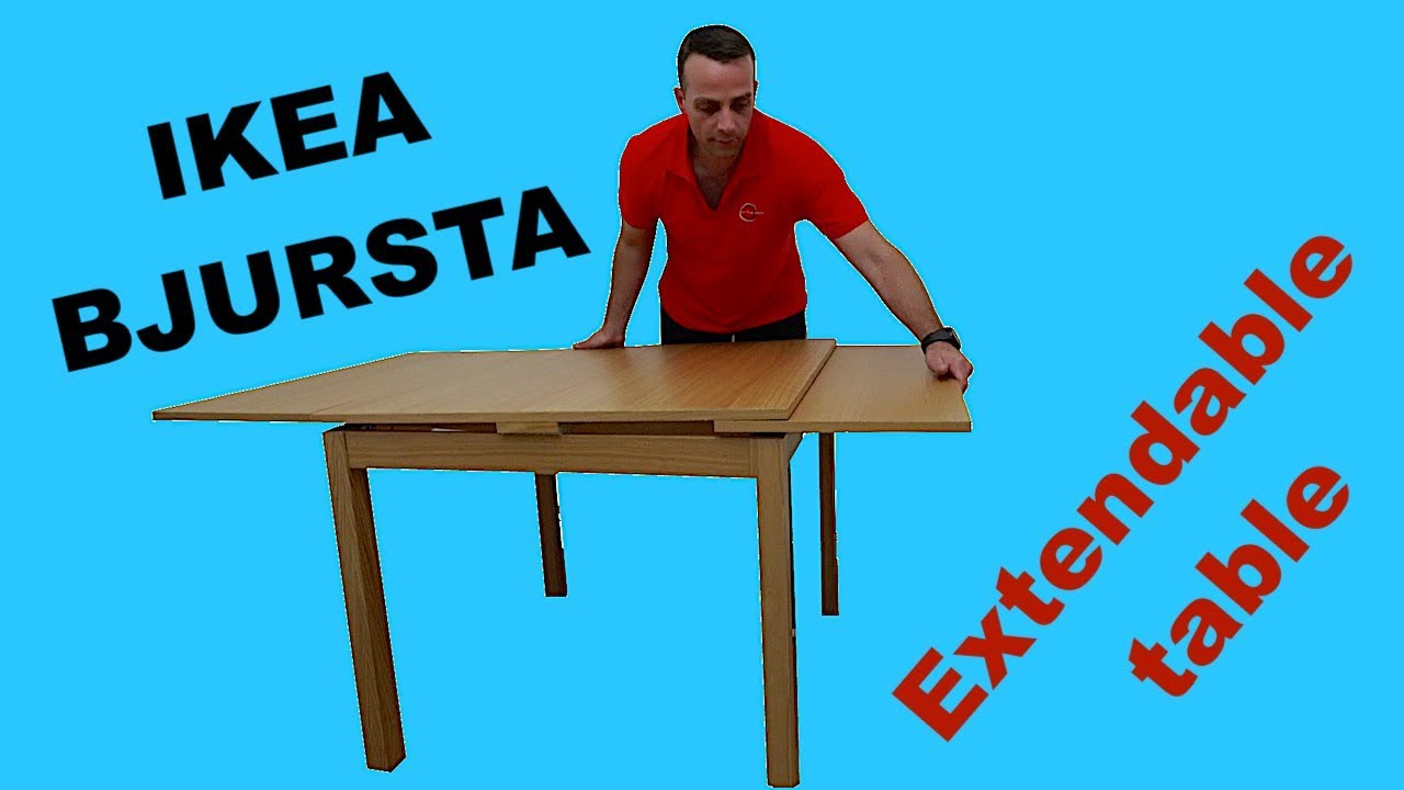 Ikea Bjursta Extendable Table Assembly Instructions Youtube
