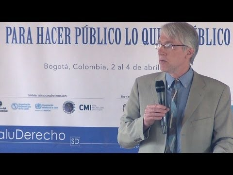 Lecture by Paul Hunt: Acountabilility, transparency and the right to health