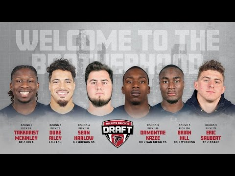 ATLANTA FALCONS 2017 DRAFT CLASS HYPE VIDEO #RISEUP #FALCONS #NFLDRAFT