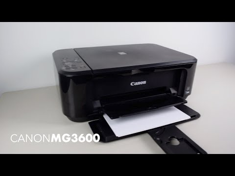 Change Wireless Network On Canon MG3600 Series Printer In Windows 10