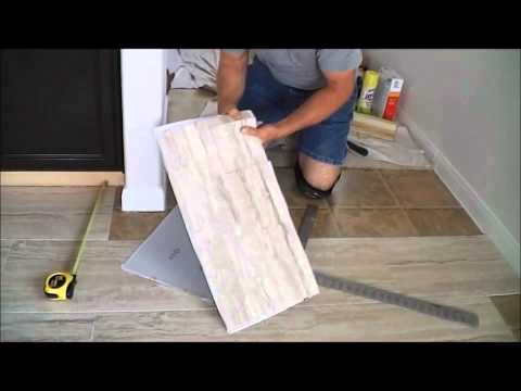 """TrafficMaster ceramica 12"""" X 24"""" vinyl tile floor installation ..."""