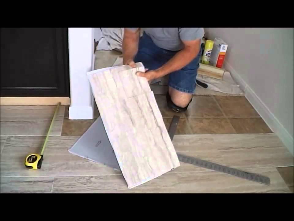 trafficmaster ceramica 12 x 24 vinyl tile floor installation