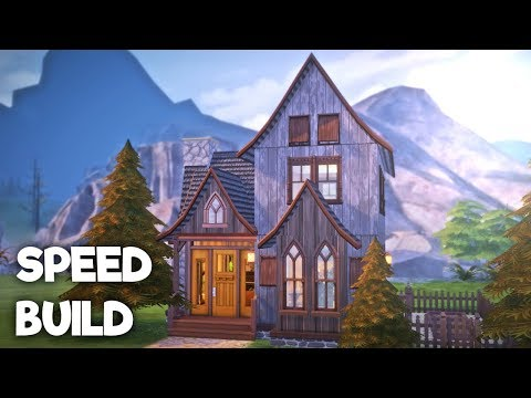 WITCHES AND WARLOCK STARTER HOUSE || The Sims 4: Speed Build