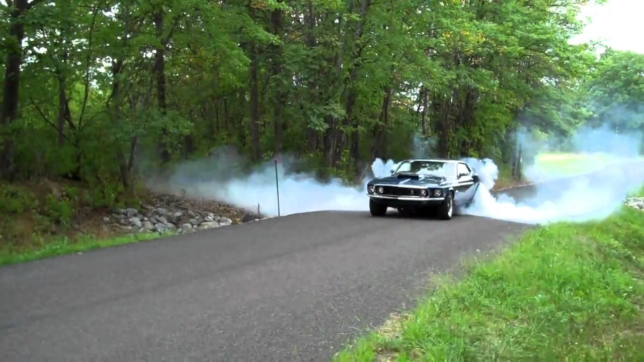1969 Mustang Burnout Youtube
