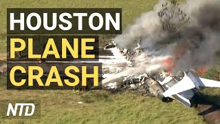 Plane Crashes During Takeoff at TexasAirport; 17 State AGs Urge DOJ Stop Targeting Parents   NTD