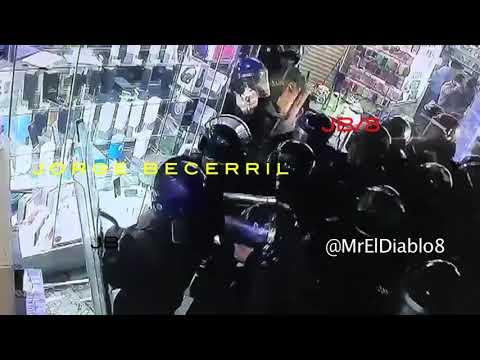 POLICÍAS AUXILIARES SSP ROBAN CELULARES EN MEAVE. JORGE BECERRIL