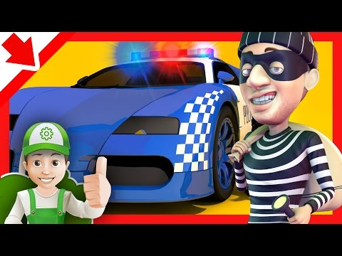 Police Cars Chase Cartoon For Children Kids Story. Police Cartoon For Children - Full Episodes