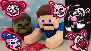 Five Nights at Freddy's Sister Location Fnaf Poster, Stickers, mymoji dorbz Sanshee unboxing