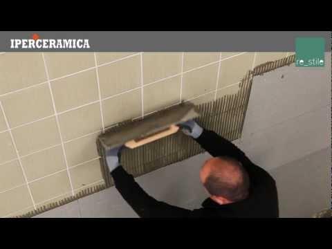 Posa rivestimento gres porcellanato sottile - IPERCERAMICA - YouTube