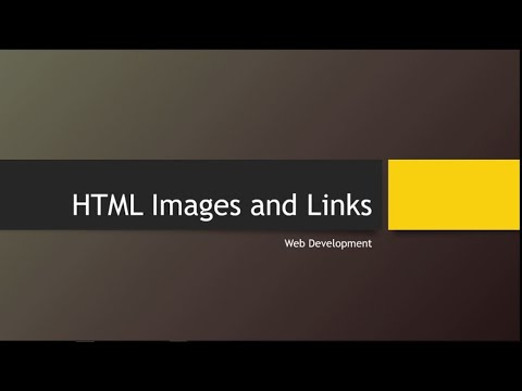 HTML Images And Links