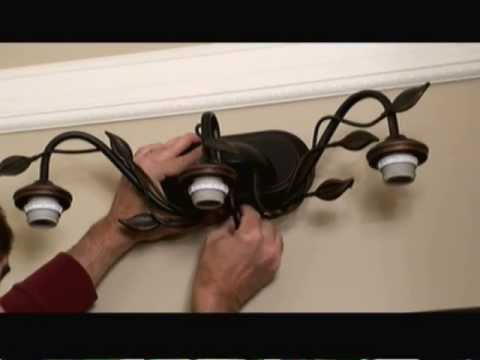How To Install A Bathroom Light Fixture YouTube - Replacing bathroom light fixture