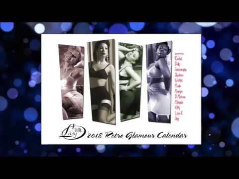 2018 Retro Glamour Pinup Calendar vintage stockings girdles