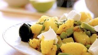 Стручковая фасоль с картофелем карри
