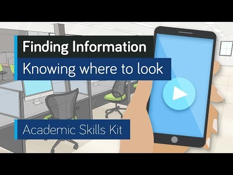 ASK Online Learning Resources 1.1: Finding Information - Knowing where to look