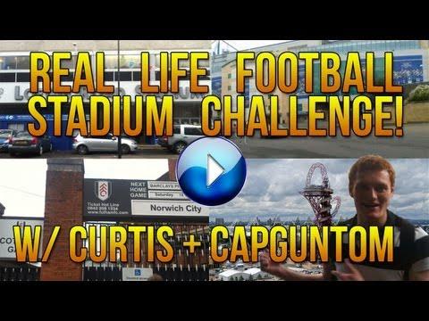 VLOG: Football Stadium Challenge! | Travel to as many Football Stadiums in 2 hours! W/ CapGunTom
