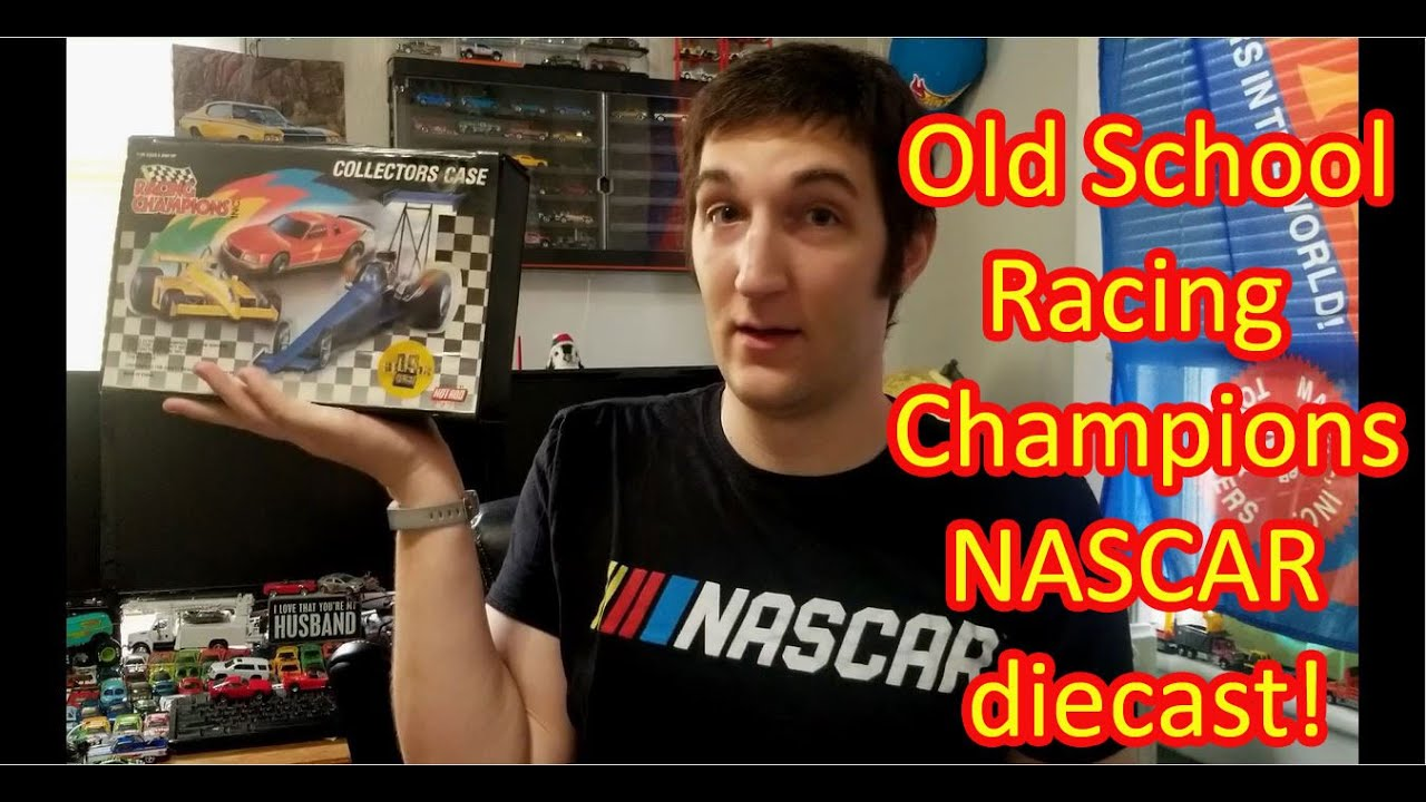 NASCAR Racing Champions old school diecast cars, cards, and case!