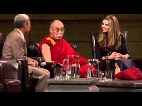 Maria Shriver talks with His Holiness the Dalai Lama
