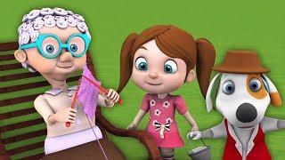 старая мать хаббард | детские стишки | Детские песни | мультфильмы для детей | Little Treehouse