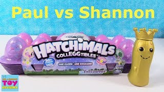 Paul vs Shannon Hatchimals Season 4 Dozen CollEGGtibles Unboxing Review | PSToyReviews