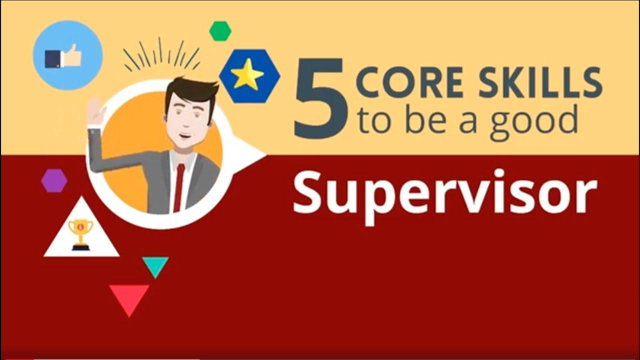 good supervisor skills