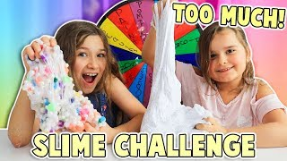 Mystery Wheel of Adding Too Much Ingredients To Slime Challenge!!! | JKrew