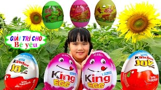 HUNTING AND encased dinosaur eggs - KINDER - KING by entertainment for baby