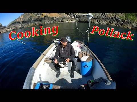 Catching And Cooking Pollack On The Boat Reflecting