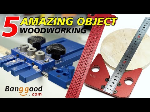5 AMAZING object LOW COST for WOODWORKING - Banggood
