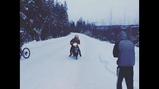 Покатушки и зимний дрифт на Honda Dio af 28 zx, и велосипедах(В этом видео мы будем тестировать наши аппараты на бездорожье, и в зимнем дрифте))), 2016-10-09T02:08:06.000Z)