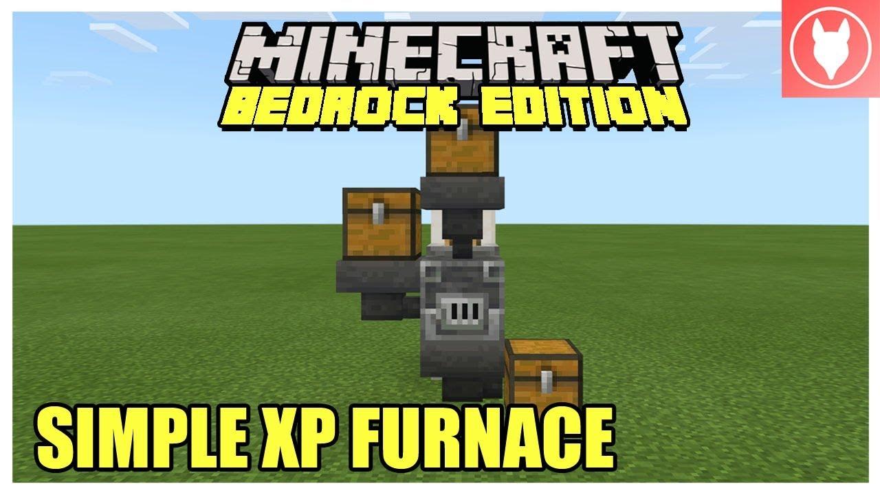 Minecraft Bedrock - Simple XP Storage Furnace (Xbox/ MCPE/ Windows 12/  Switch)