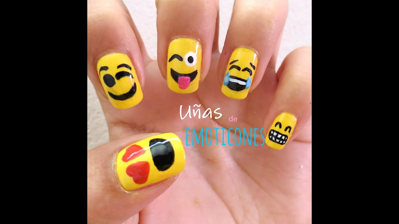 Uñas de Emoticones - YouTube