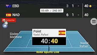 EBDEN vs NADAL Live Game Australian Open 16.1.19 Score
