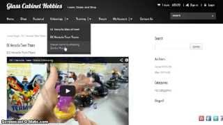 Glass Cabinet Hobbies Website Demo - Store & More