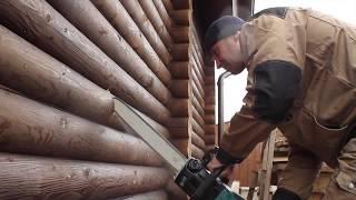 видео Установка камина в деревянном доме