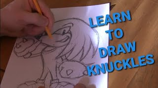 How to Draw Knuckles and Other Sonic Characters Lesson